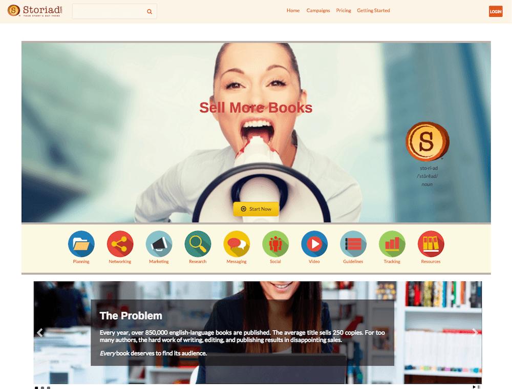 Storiad - Homepage